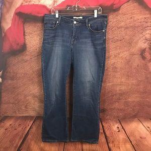 Levi's 529 Curvy Boot Cut Dark Jeans 14 34x32